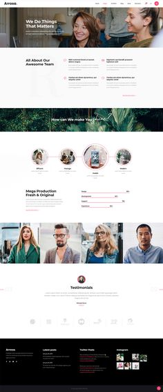 Introduce your business in a modern and creative manner with Arrosa WordPress theme. Creative Business, Wordpress Theme, How To Introduce Yourself, This Is Us, Web Design, Creative Portfolio, Modern, Colorful, Website