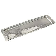 Elegance Stainless Steel Hammered Rectangular Tray, Medium by Silver Dinnerware Ideas, Gray Decor, Kitchen Store, Appetizers For Party, Trays, Home Kitchens, Stainless Steel, Medium, Silver