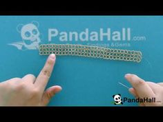 PandaHall Video Tutorial on Austrian Crystal Beads and Glass Pearl Beads Stitch Cuff Bracelet - YouTube