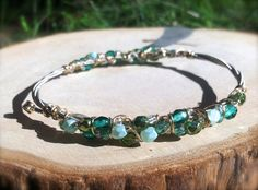 MINT JULEP Guitar String Bangle.  by DesignsByJewelree on Etsy