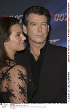 Actor PIERCE BROSNAN & wife KEELY SHAYE SMITH at the special screening in Los Angeles of his new...