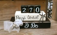 Wedding countdown blocks Countdown until I do by Kateslittleshop, $29.00