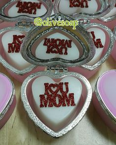 I❤U MOM  Soap  #soap #soapcraft #mothers_day #me #handmade #gift #love_you_mom @olivesoap  00962795726029 www.instagram.com/olivesoap www.facebook.com/olivesoap Glycerin Soap, Mothers, Sugar, Cookies, Facebook, Mom, Gift, Desserts, Handmade