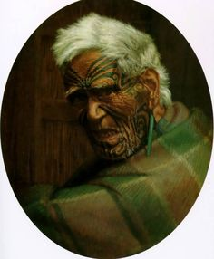 A centenarian, Aperahama, aged 104 by Charles Goldie, Oil on canvas Ta Moko Tattoo, Maori Tattoos, Thinking In Pictures, Maori People, Maori Designs, New Zealand Art, Indigenous Tribes, Amazing Paintings, Art Paintings