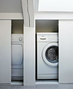 If you have sloping walls in your laundry room.