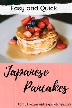 Today I will be showing you recipe on how to make easy  Japanese fluffy pancake. That's not tough to make. all we need is craving to eat that tasty and delicious pancakes. #easy #holidays #pancakes #desserts #sweet #cakes #fluffy #Tasty #food #japanese Japanese Fluffy Pancakes, Japanese Pancake, Souffle Pancakes, Tasty Pancakes, Quick Recipes, Cake Recipes, Brunch Menu, Sweet Cakes, Make It Simple