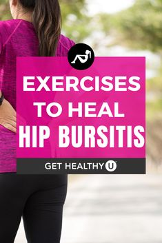 Hip bursitis is an irritating condition that can range from slightly bothersome to very painful. Incorporate these 9 exercises into your routine to relieve pain and heal hip bursitis. Best Weight Loss Plan, Weight Loss For Women, Easy Weight Loss, How To Lose Weight Fast, Fitness Diet, Yoga Fitness, Hip Workout, Butt Workouts, Best Exercise For Hips