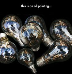 Hyper Realistic Oil Painting Kinda wish the words weren't on the picture, but awesome none-the-less!