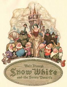 Walt Disney,,Snow White And The Seven Dwarfs Disney Pixar, Walt Disney Animation, Art Disney, Film Disney, Disney Love, Disney Magic, Disney Collectibles, Disney Viejo, Snow White 7 Dwarfs