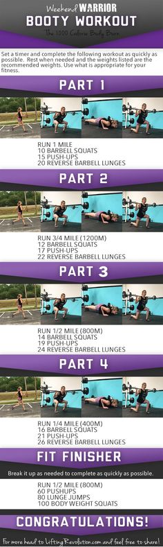 Weekend Warrior Butt Workout: Another 1000 Calorie Burning Workout