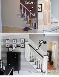 Entry wall and stairs upgrade