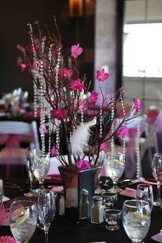 77 Best Aa Black White And Pink Images Table Decorations