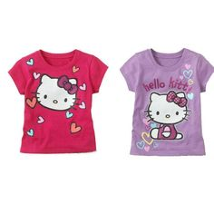 Baby Girl Cartoon Hello Kitty T Shirt Short Sleeve Cotton Summer Cat Pink Rose R | Clothing, Shoes & Accessories, Baby & Toddler Clothing, Girls' Clothing (Newborn-5T) | eBay!