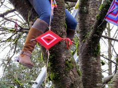 A Memory Tree Blooms in a Park Near You! Public art yarnbombing by nirvYARNah, 2015.