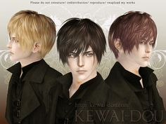 Spring4Sims » Hair for Males