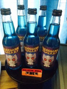 Guardians Of The Galaxy birthday party drinks! See more party ideas at CatchMyParty.com!