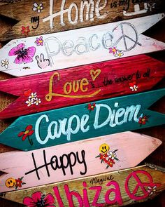 Diy Home Crafts, Diy Arts And Crafts, Cute Crafts, Crafts To Do, Wood Crafts, Pool Signs, Fun Signs, Ibiza, Hippie Crafts