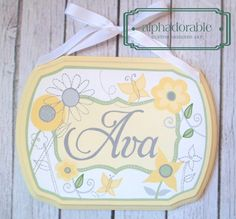 Bright Blossoms Custom artisan hand painted wooden by Alphadorable