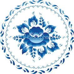 White and blue ornament vector flowers traditional russian style Gzhel Royalty Free Stock Vector Art Illustration China Painting, Tole Painting, Fabric Painting, Blue Flowers Images, Scandinavian Folk Art, One Stroke Painting, Decoupage Vintage, Vector Flowers, Blue Pottery