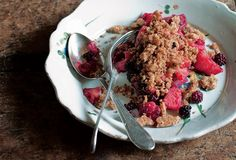 Blackberry and Apple Brown Betty