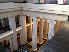 Ionic capitals inside Auckland War Memorial Museum influenced by Ancient Roman architecture.