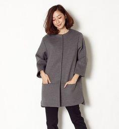 gray wool coat / ShopStyle(ショップスタイル): aquagirl アクアガール ウール切り替えコート - shopstyle.co.jp