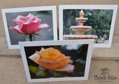 Rose Garden Card Pack...3 cards... Leu Gardens, Florida ...Fine Art Photography Greeting Cards