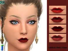 Just for your sims: Lipstick Dark Kisses • Sims 4 Downloads
