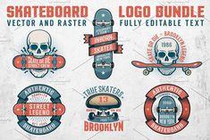 Skateboard Logo Bundle by Agor2012 shop on @creativemarket
