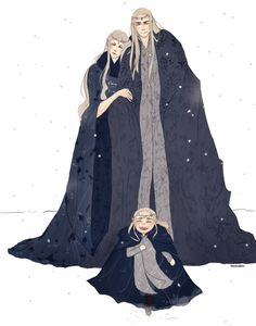 Mirkwood Royals. thranduil and his wife and little legolas