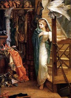 History of Art: Neoclassicism and Romanticism - Pre-Raphaelites - Arthur Hughes,The Property Room-lexi