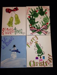 Handprint - footprint Christmas crafts!