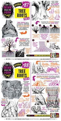 How to draw TREE ROOTS tutorial by STUDIOBLINKTWICE.deviantart.com on @DeviantArt