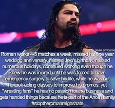 This is the reason I love u Roman. Wwe Superstar Roman Reigns, Wwe Roman Reigns, Wwe Quotes, Diva Quotes, Qoutes, Wwe Facts, Roman Empire Wwe, Roman Reigns Family, Hairstyle Tutorials