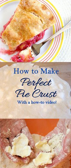 Learn how to make perfect pie crust. Watch a how to video and learn about a special ingredient that makes the crust so flaky. Tart Recipes, My Recipes, Baking Recipes, Sweet Recipes, Holiday Recipes, Dessert Recipes, Favorite Recipes, Christmas Recipes, Thanksgiving Recipes