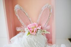 Easter Spring bunny ears headband by birdie baby boutique  newborn photography, mini sessions, blush