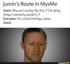 Jumin's me tho I'm not rich and i sadly don't have a cat