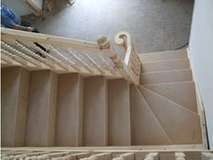 Bespoke staircases made to measure: Lewis Carpentry and Joinery offer a bespoke design, build and fitting service for all your staircase needs. Basement House, Basement Stairs, Cardiff, Bristol, Winder Stairs, Bespoke Staircases, Small Staircase, Carpentry And Joinery, Dream Rooms