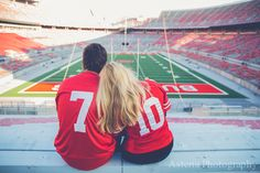 columbus ohio engagement photography / columbus ohio wedding photography / columbus ohio wedding photographers / engagement pictures / osu / ohio state / stadium pictures / ohio stadium / sports engagement pictures / football engagement pictures / engagement picture ideas www.asteriaphoto.com www.facebook.com/asteriaphotography