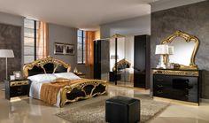 http://www.arab-bedroom.com/2014/04/blog-post_25.html Classic Drawers, Oak Bed Frame, Wooden Bed Frames, Gold Furniture, Furniture Direct, Antique Furniture, Furniture Sets, Italian Bedroom Sets, Italian Bedroom Furniture