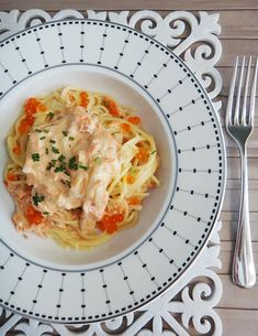 Creamy Smoked Ocean Trout Pasta