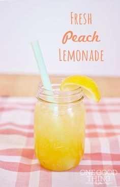 This Fresh Peach Lemonade is the perfect summertime thirst quencher!
