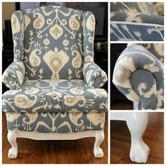 recover a wingback chair