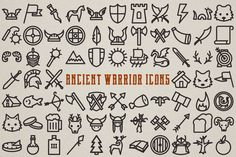 Ancient Warrior Icons Clipart web icons viking by LemonadePixel