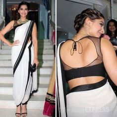 Indian Awesome and Fancy Sleeveless Blouse Designs for Sarees – Fashion Cluba Bollywood Girls, Bollywood Fashion, Bollywood Saree, Indian Bollywood, Saris, Indiana, Indian Blouse, Indian Wear, Indian Gowns