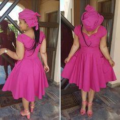 African Wear, African Women, African Dress, African Fashion, African Traditional Wedding Dress, Traditional Dresses, Fit N Flare Dress, Fit And Flare, Seshoeshoe Dresses