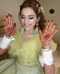 Perfect look for Choora or mehndi ceremony