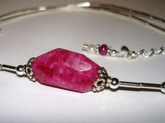 Ruby Quartz  sterling silver  natural ruby by JewelryByDeezines, $39.00