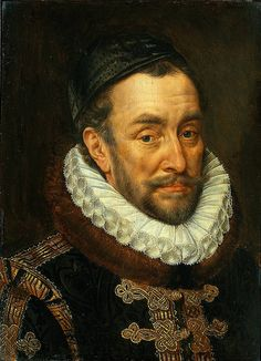 A portrait of William Of Orange. By Adriaen Thomasz Key, 1580. Also widely known as William the Silent, main leader of the Dutch revolt against the Spanish that resulted in the formal independence of the United Provinces in 1648. Born in the House of Nassau as Count of Nassau-Dillenburg, became Prince of Orange in 1544.Founder of the branch House of Orange-Nassau, ancestor of the monarchy of the Netherlands.
