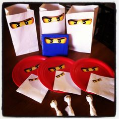 Ninjago Party - just stick yellow eyes on everything!